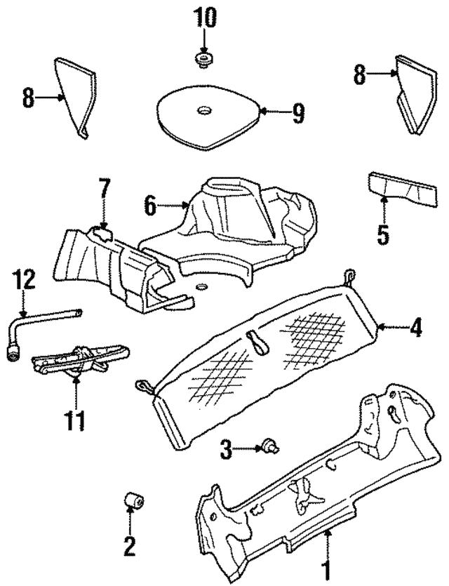1995 2001 Chevrolet Side Trim Panel 10434849