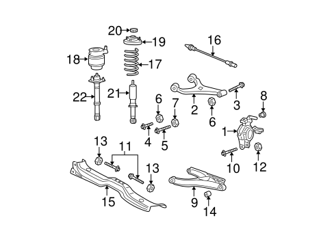Rear Suspension/Rear Suspension for 2005 Ford Expedition #2