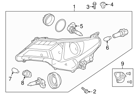 ELECTRICAL/HEADLAMP COMPONENTS for 2015 Toyota RAV4 #1