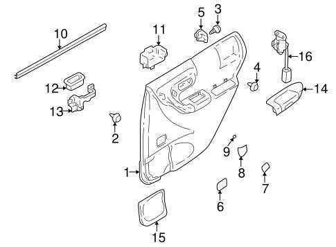 Interior Trim Rear Door For 2001 Subaru Forester Subaru Parts El Paso