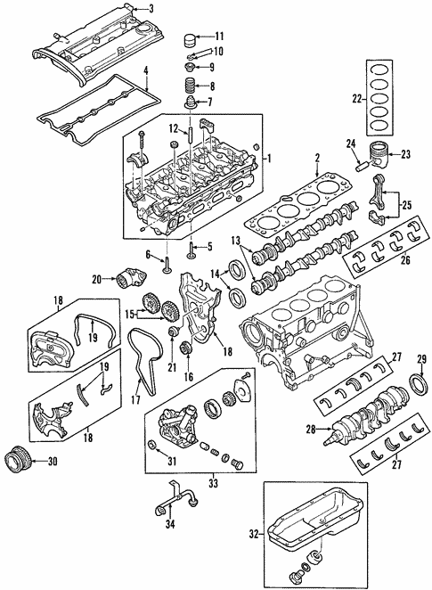 OEM 2004 Chevrolet Aveo Engine Parts | GMPartsOnline.net