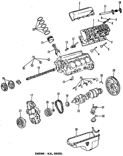 Engine Parts For 1996 Chevrolet G30