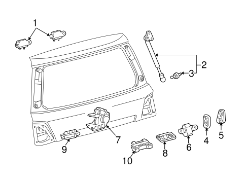 Genuine Oem Liftgate Parts For 2013 Toyota Land Cruiser Base