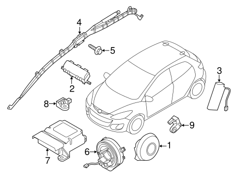 Air Bag Components for 2012 Mazda 2 #0