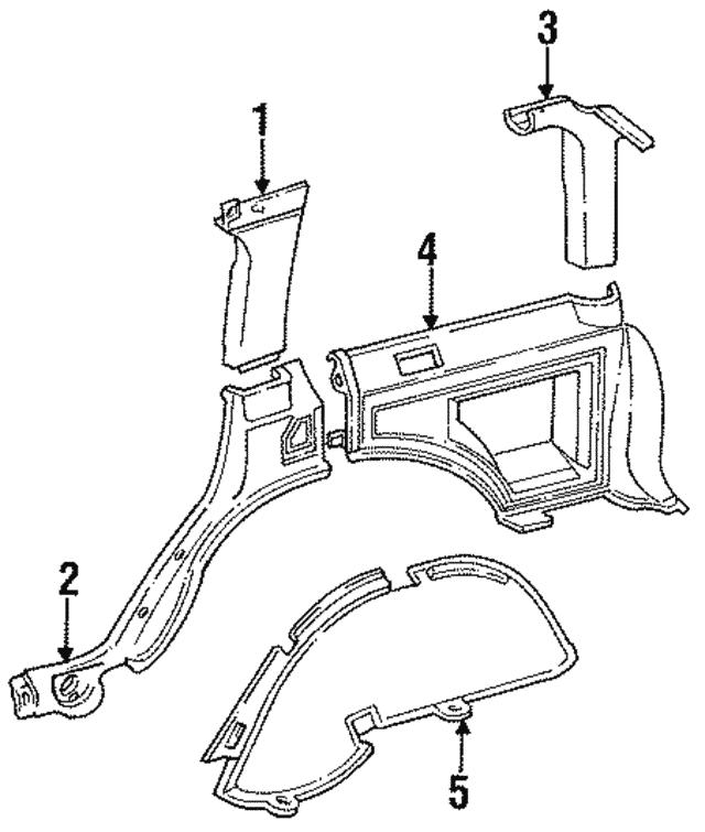 1985 1998 Jeep Lock Pillar Trim 5ew86tc3