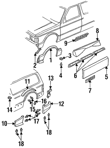 Ground Effects Parts For 1992 Gmc Typhoon
