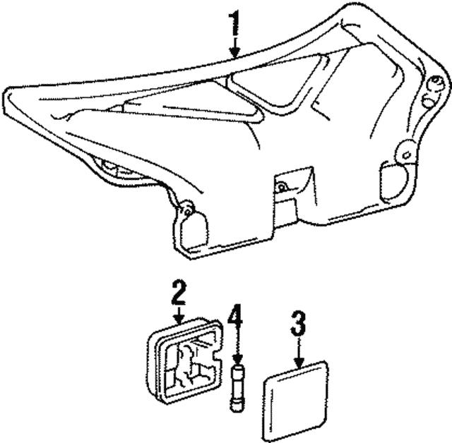 1992 1996 Toyota Camry Lens 81338 33010