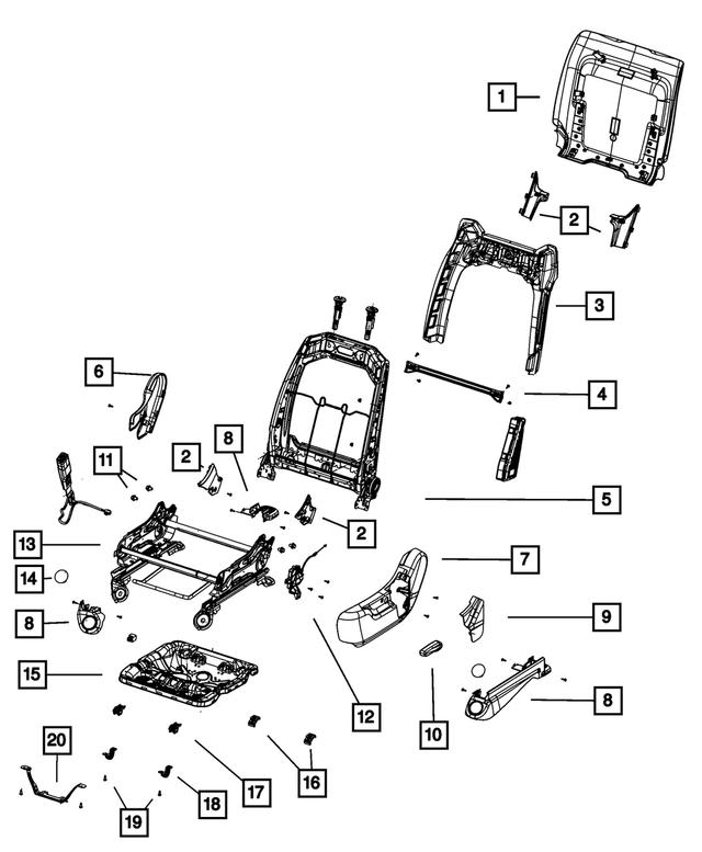 Chrysler Genuine 1BG341J8AA Seat Adjuster Shield