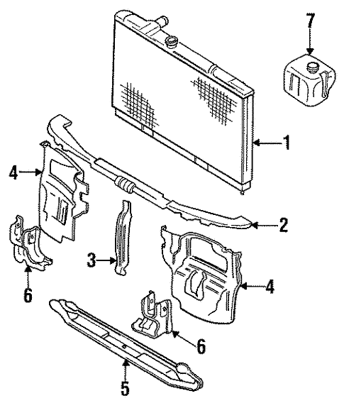 Radiator Components For 1995 Mitsubishi Expo Base