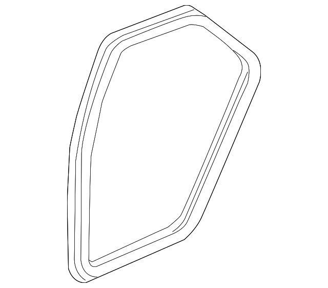 Genuine Seal, L Rear Door Opening *NH528L* (Moon Lake Gray