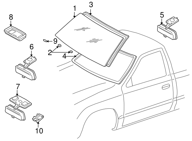 Genuine Toyota 87810-04040-B2 Rear View Mirror Assembly