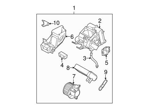 Evaporator Components For 2009 Nissan Armada