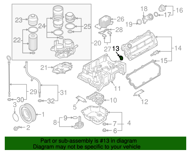 Upper Oil Pan Gasket