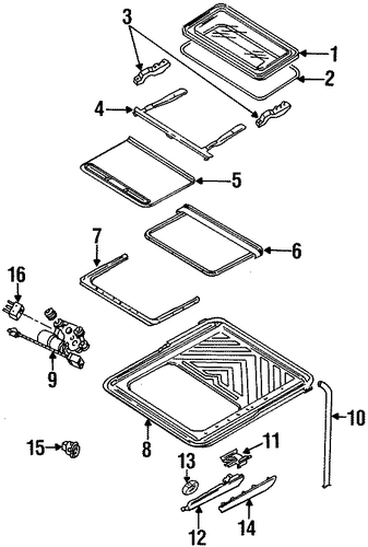 Body/Sunroof for 1997 Ford Contour #1