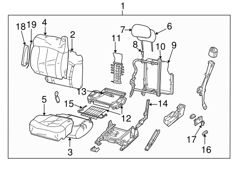 Front Seat Components for 2000 GMC Yukon #2