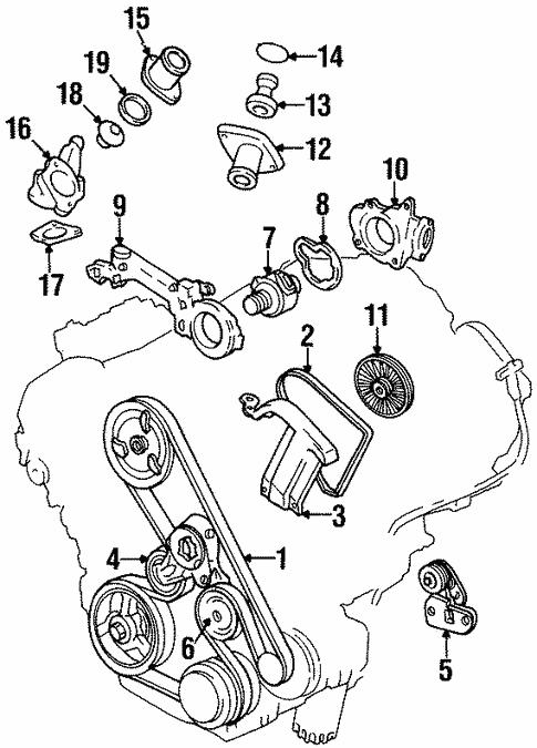 Oem 1994 Cadillac Deville Belts Pulleys Parts