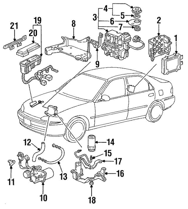 1994 1997 Honda Harness Abs Fuse Box 32230 Sr3 A01