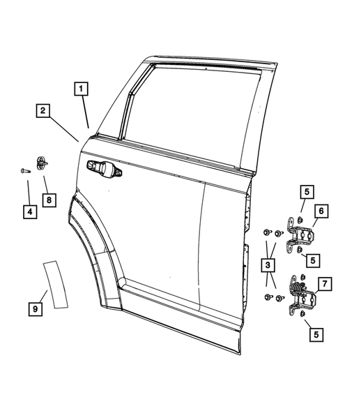 Rear Door for 2016 Dodge Journey #1