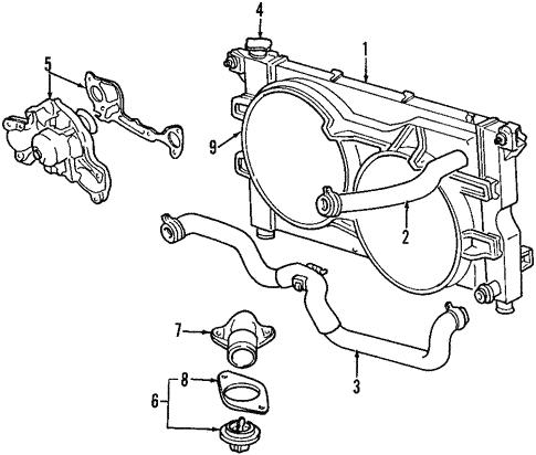 Radiator Components For 2000 Dodge Caravan