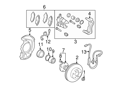 BRAKES/BRAKE COMPONENTS for 2002 Toyota Camry #2