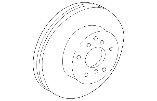 Genuine Toyota Disc Front 43512-44011