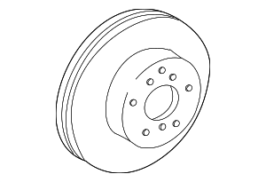 Disc Brake Rotor - Toyota (43512-06040)