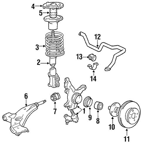 Suspension Components For 1988 Toyota Corolla