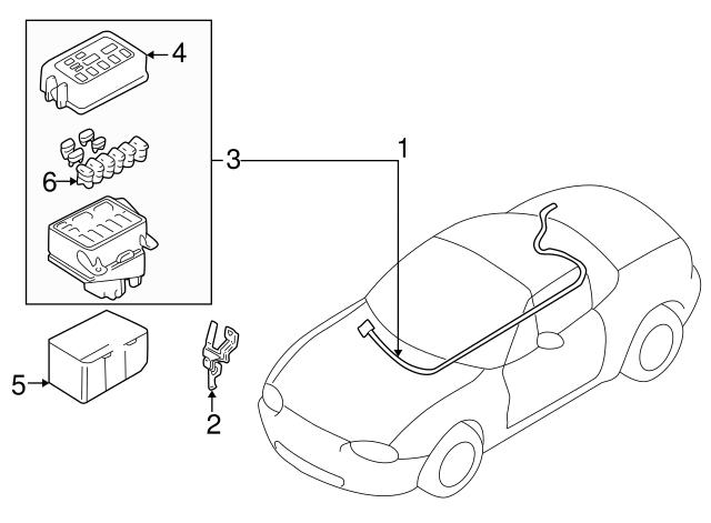 1999 2015 Mazda Fuse H117 67 099