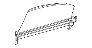 Door Glass Sunshade - Mercedes-Benz (253-810-03-00-8Q96)