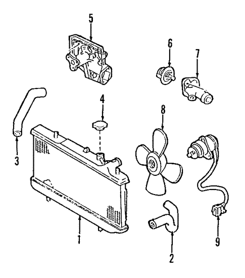 Radiator Components For 1996 Ford Aspire