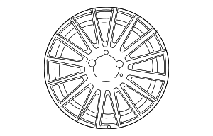 Wheel, Alloy - Mercedes-Benz (6-6-03-1097)
