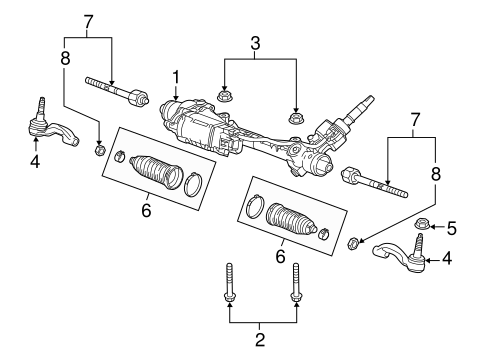 Steering/Steering Gear & Linkage for 2016 Cadillac ATS #1