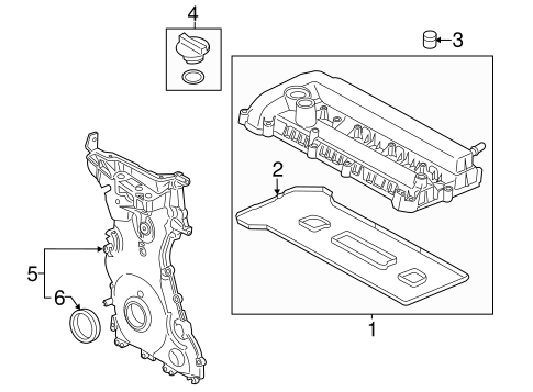 Valve Timing Covers For 2014 Ford Fusion