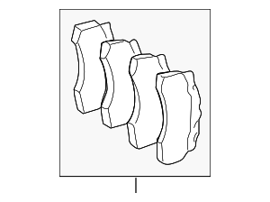 Brake Pads - Mercedes-Benz (004-420-08-20-41)