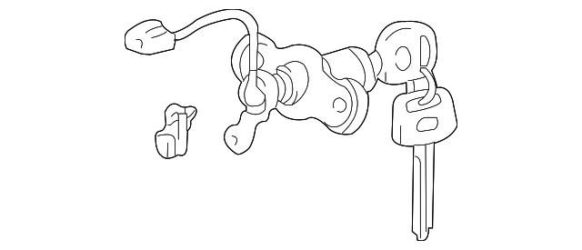 Genuine Toyota Lock Cylinder 69055 48040