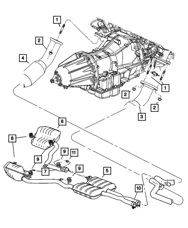 Genuine Chrysler 4581722AB Exhaust Bracket