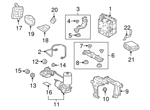 genuine oem abs components parts for 2008 toyota