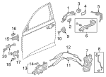 Light Assembly, R Front Door Handle - Honda (34750-TVA-A01)