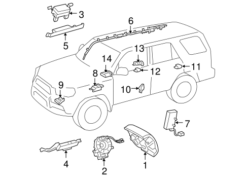 ELECTRICAL/AIR BAG COMPONENTS for 2016 Toyota 4Runner #1