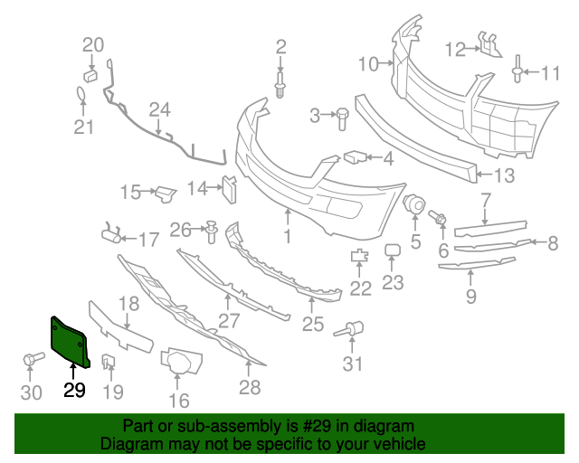 License bracket mercedes benz 164 885 03 81 mb oem parts for Mercedes benz part numbers list
