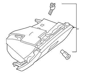 Glove Box Assembly - Mercedes-Benz (117-680-42-00-7H52)