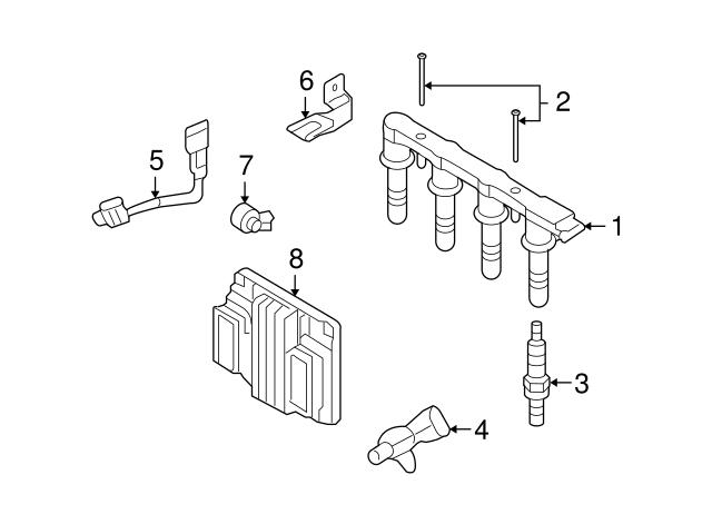 ECCPP 2PCS Camshaft Position Sensor Fit For 2009-2011 Chevrolet Aveo 2009-2011 Chevrolet Aveo5 2011-2015 Chevrolet Cruze 2012-2015 Chevrolet Sonic CPS Sensor