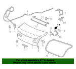 Holder, Trunk Open Spring - Honda (74874-T2A-003)