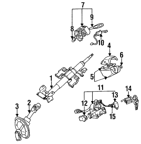 Steering Column Components For 1999 Mitsubishi Eclipse Gst