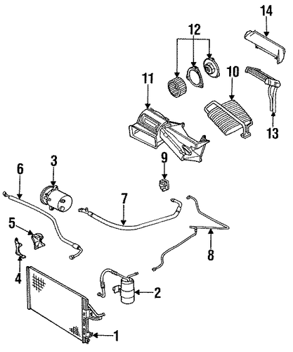oem heater components for 1995 saturn sl2