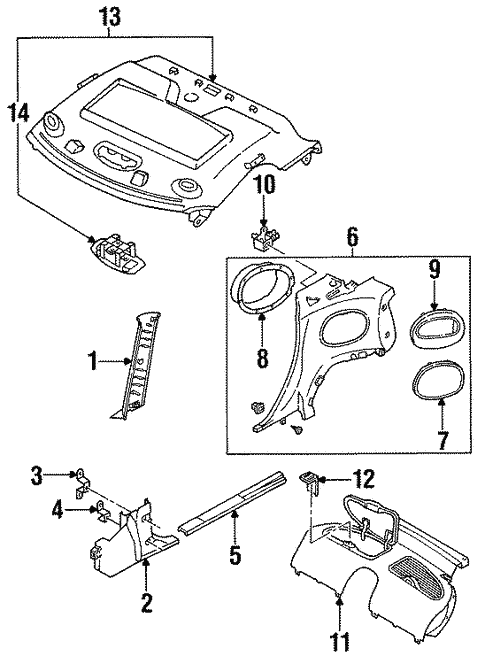 Genuine Oem Interior Trim Parts For 1993 Mazda Rx 7 Touring
