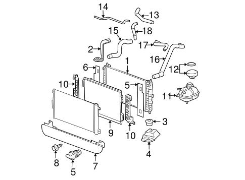 oem 2007 chevrolet cobalt radiator components parts. Black Bedroom Furniture Sets. Home Design Ideas