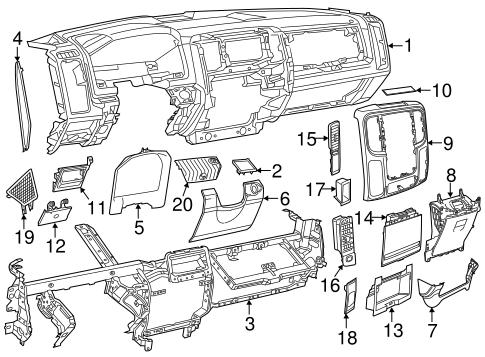 Instrument Panel For 2014 Ram 3500