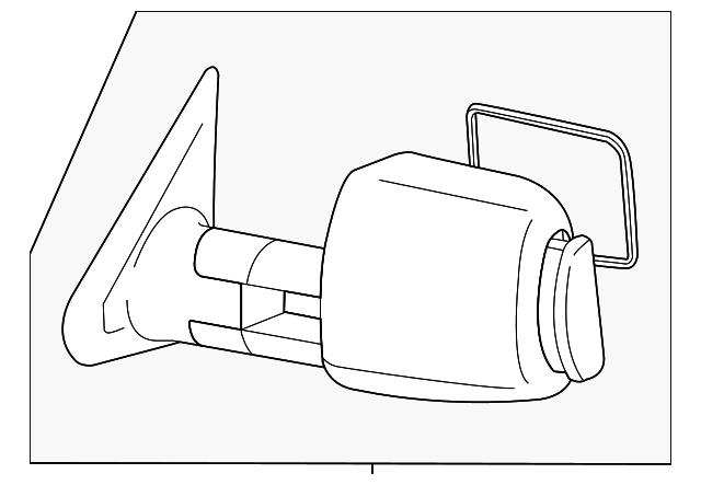 tow mirror - non-power folding - driver u0026 39 s side