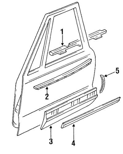 1993 Buick Park Avenue Suspension: Front Door Parts For 1993 Buick Park Avenue